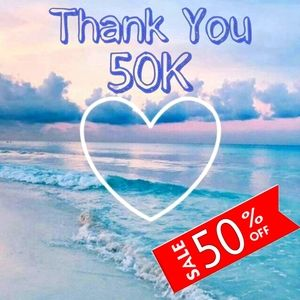 THANK YOU 50,000 FOLLOWERS SALE (50% OFF EVERYTHING)
